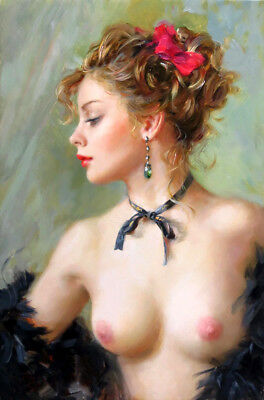 Wall art Naked girl Oil Painting HD printed on canvas L1820