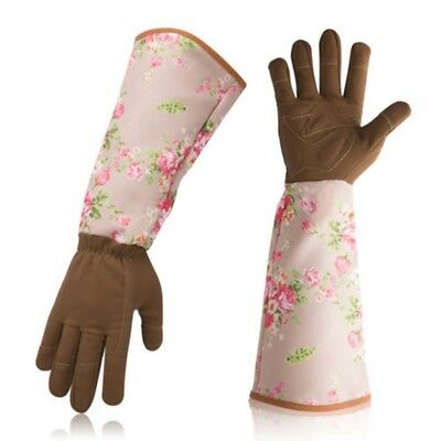 Womanswork Womens Garden Gloves Floral Long Sleeve Arm Protection Gauntlet Home