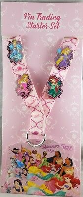 Disney Parks Princess Adventure is On Pin Trading Starter Set 4 Lanyard Card