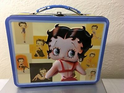 Betty Boop 2006 Collectables Large Tin Metal Lunch Box 6x 7.5 New