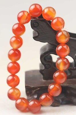 China old jade Chinese natural agate jade beads bracelet