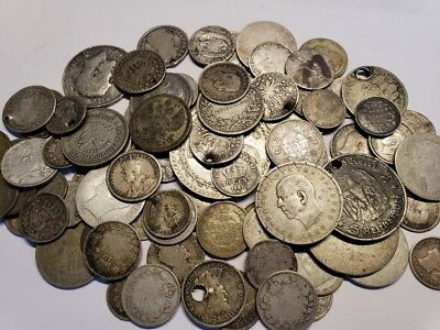 (1) World SILVER Coin / Low Grade Cull Coins / Antique Money