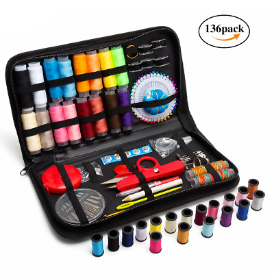 Sewing Kit, 136 PCS DIY Premium Sewing Supplies Set with Portable Carry Case