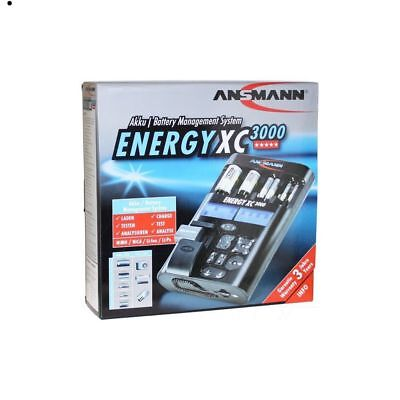 Ansmann Battery Charger Suitable for NiCd, NiMH, Li-Ion/Li-Po 3 year warranty