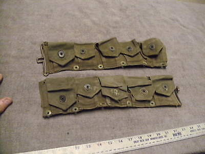 Late WW2  or Korean War M1 Rifle Ammo Belt , Rough Cond, For Parts or Display