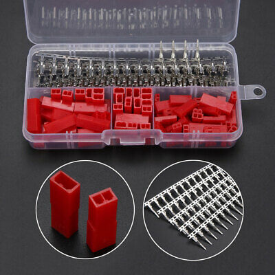 "300pcs 2.54mm 0.1"" 2Pin Red Plug Female & Male Housing Crimp Terminal For Dupont"