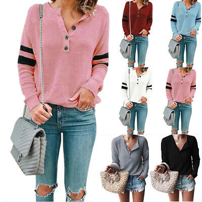 T-Shirt White Causal Blouse Pink Long Sleeve V-Neck Tee Spring Women Top S-2XL