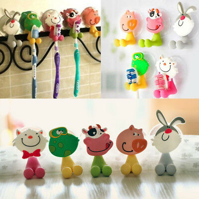 Creative cute cartoon animal family suction cup toothpaste toothbrush holder