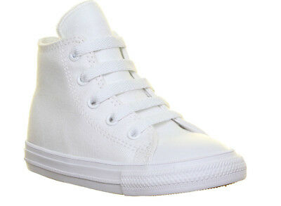 Converse Chuck T. All Star II Hi Infants Canvas Trainers In white Size UK 5 - 11
