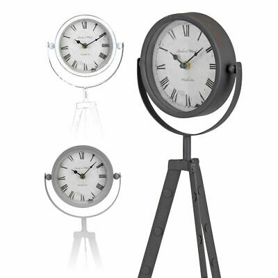 Table Clock Floor Clock Industrial Vintage Design Swiveling