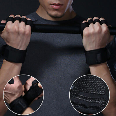 Unisex fitness gloves weight lifting gym sport workout training wrist wrap FG