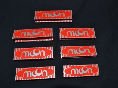 7  Booklets Moon Red Cigarette Tobacco Rolling Papers 70*36mm 350 Leaves