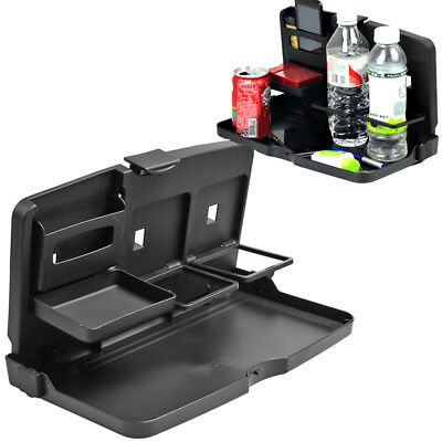 Folding Auto Travel Car Back Seat Food Tray Holder Table Work Desk Organizer