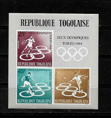 TOGO SC #C43a AIR MAIL 1964 OLYMPICS MNH-MINT SOUVENIR SHEET SINGLE STAMP