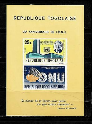 TOGO SC #C48a 1965 AIR MAIL UN TYPE MNH-MINT SOUVENIR SHEET SINGLE STAMP