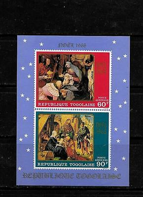 TOGO SC #C101a 1968 AIR MAIL CHRISTMAS MNH-MINT SOUVENIR SHEET SINGLE STAMP