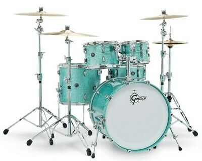 Gretsch RN2-E8246 Renown Maple 4 Piece Shell Pack, Turquoise Sparkle