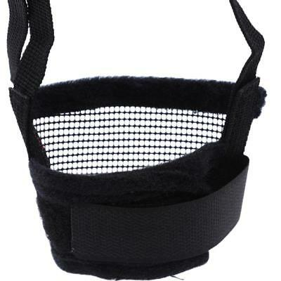 Stop Chewing Pet Dog Adjustable Mask Bark Bite Mesh Mouth Muzzle Grooming Q