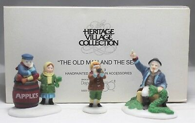 "Department 56 ""The Old Man And The Sea"" New England Village Accessory #56553 MIB"