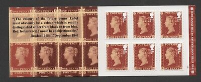 Gb 2016 The 175 Th Anniversary Of The Penny Red Stamp Boolet Cyl W1