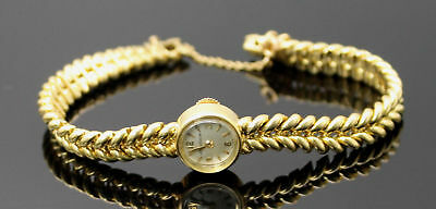 Estate Luxury Jaeger Lecoultre Automatic Solid 18K 750 Yellow Gold Wrist Watch