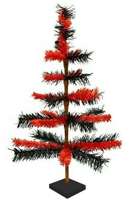 24'' Halloween Christmas Tree Tinsel Feather Style Holiday Tree 2FT Table-Top