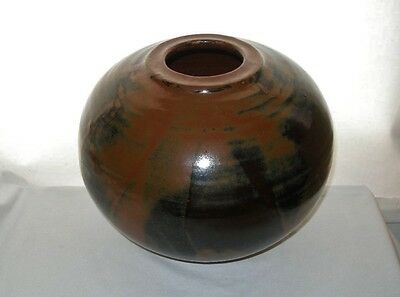MUSEUM QUALITY Pottery VASE 1960s MASHIKO Japan NEW OLD STOCK Thrown Coiled HUGE