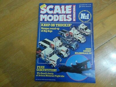 Scale Models Sept 87 Mag Trucks Big Rigs Mildenhall Air Fete Diecasts Sci-Fi