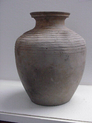 CHINESE HAN DYNASTY LARGE JAR or POT WITH CARVING, 206 BC to 220 AD GUARANTEED