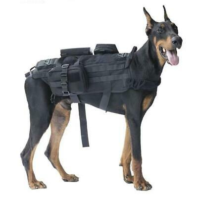 Tactical Military Army Large Police Dog Vest Harness Canine Training Vest Q