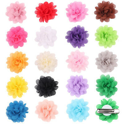 5CM Chiffon Flower Baby Girls Hair Clip Baby Toddler Hairpin Headwear Hair Bows