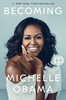 Becoming by Michelle Obama Biographies & Memoirs Women Law  Ethnic Hardcover NEW