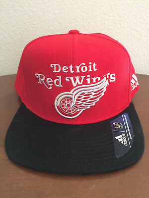 size 40 bd530 48128 ... cheap adidas detroit red wings nhl snapback adjustable hat red black  nwt msrp 32.00 d96f0 85200