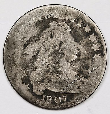 1807 Bust Dime.  Circulated.  106654