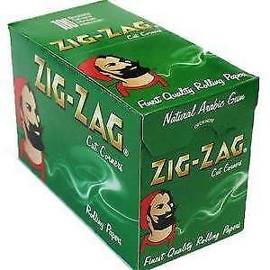 1000 Zig Zag Green Rizla/Rolling Papers 20 Packs X 50 Papers