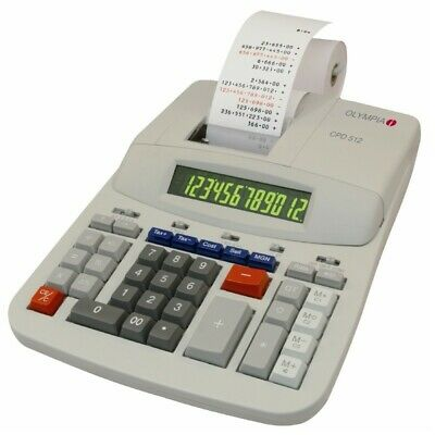 Olympia Calculatrice de Bureau Cpd 512 Neuf / Emballage D'Origine D'Impression