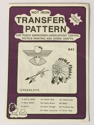 Pretty Punch 841 Set Eagle Arrows Hot Iron Transfer Pattern Punch Embroidery
