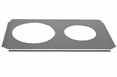 "1 Stainless Steel Steam Table Adaptor Adapter Plate 6-1/2""/8-1/2"" Hole SLPHAP068"