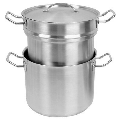3Pieces/set 16 QT Stainless Steel Double Boiler Commercial SLDB016