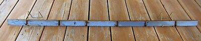 Best Blue Paint Primitive Antique Herb Fowl Rack 6 Hand Forged Iron Hooks 48 In