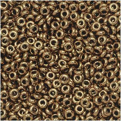 Toho Demi Round Seed Beads, Thin 11/0 (2.2mm) Size, 7.8 Grams, #221 Bronze