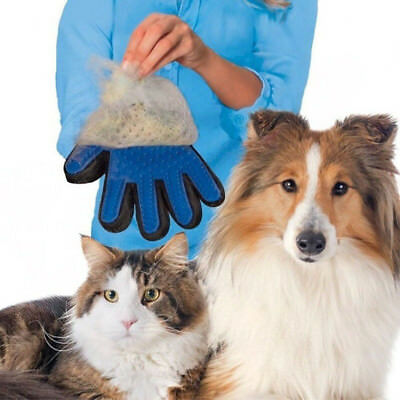 Dog Cat Pet Grooming Glove Dirt Hair Fur Removal Remover Brush Gentle Deshedding