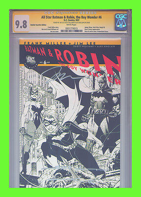 All Star Batman & Robin #6 RRP CGC 9.8 SS Jim Lee Frank Miller Sketch Cover