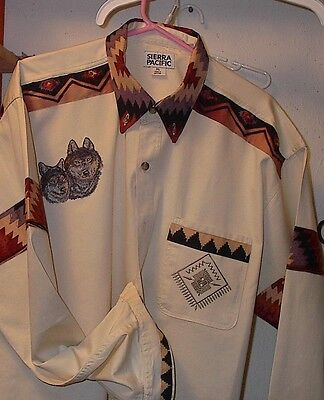 Wolf Cream Denim Shirt