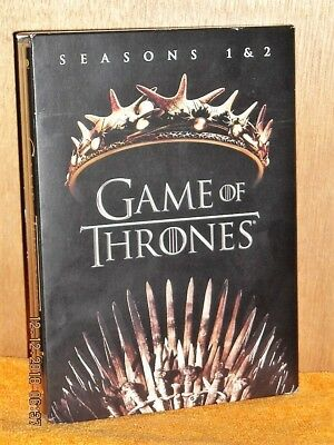Game Of Thrones Seasons 1 & 2 (DVD, 2017, 10-Disc Set) Sean Bean Peter Dinklage