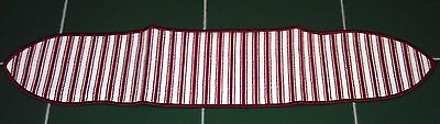 Longaberger Basket RED TICK STRIPE HANDLE TIE GRIPPER - NEW