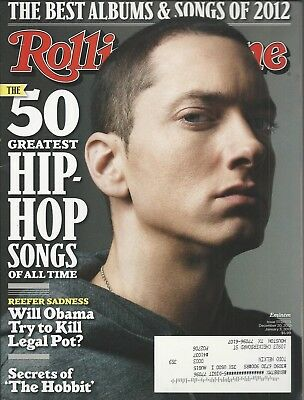 ROLLING STONE ~DEC 20, 2012~Eminem~50 Greatest Hip Hop Songs~Complete  Magazine