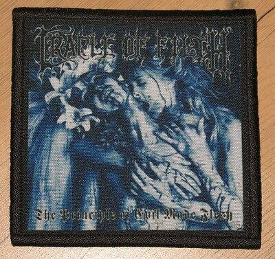 """CRADLE OF FILTH """"THE PRINCIPLE OF EVIL MADE FLESH"""" silk screen PATCH"""