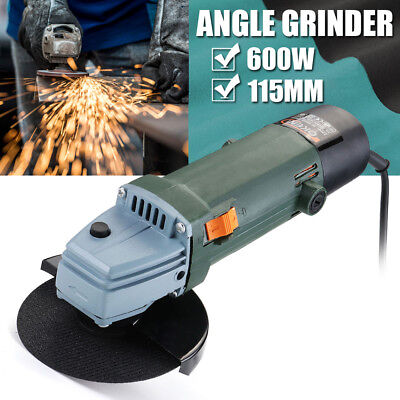 115mm 600W Electric Corded Angle Grinder With Blade Cutting Grinding Power Tool