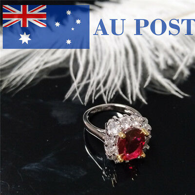 Women Ring Crystal Silver Plated Engagement Wedding Party Jewelry Fashion Gifts